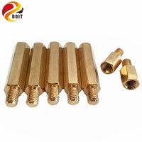 M4 10mm 6mm Copper Pillar Robot Accessory Chassis Wheel Connector Diy Rc Electronic Toy Development Remote