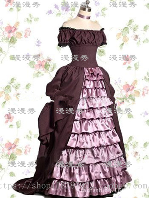 ROCOCO Gothic Medieval Dress Cosplay Gothic Classic/Traditional Lolita Dress Princess Long Skirt