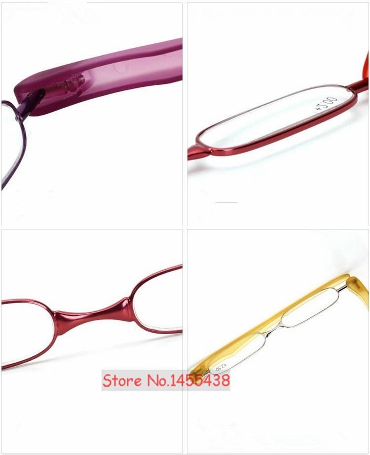 Складной светильник FULLSONG с поворотом на 360 градусов для чтения, портативные очки для дальнозоркости, очки для дальнозоркости, черный и красный цвета