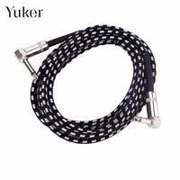 6m Electric Guitar Connecting Cable Bass Wire Line Connector Fabric Braided For Amplifier Electric Guitar Mixer Accessories