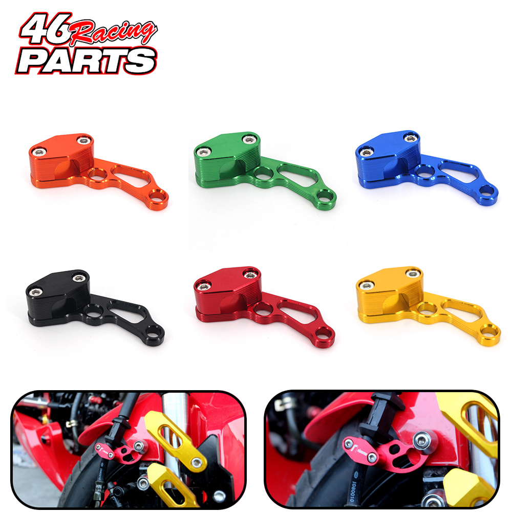 CNC Motorcycle Brake Line Clamps For <font><b>YAMAHA</b></font> <font><b>Nmax</b></font> MT-03 MT-07 MT-09 R25 FZ8 JOG Yzf r125 R15 Yzf250f Xjr 1300 Ybr <font><b>125</b></font> Accessories image
