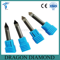 Free Shipping 4pcs 30/45/60/90 Degree 6MM Marble Granite CNC Diamond Engraving Bit Router Bit