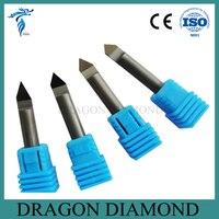 Free Shipping 4pcs 30 45 60 90 Degree 6MM Marble Granite CNC Diamond Engraving Bit Router