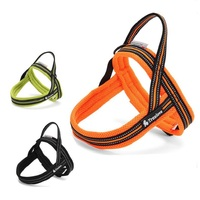 Pet Chest Straps Soft Mesh Padded Nylon Dog Harness Vest 3M Reflective Security Dogs Collar Easy