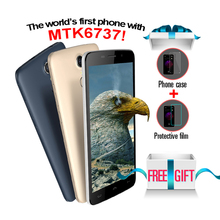 "Original HOMTOM MTK6737 HT17 Android 6.0 5.5 ""Smartphone Quad Core 1280*720 1 GB + 8 GB 13MP 3000 mAh Huella Digital 4G Teléfono Móvil"