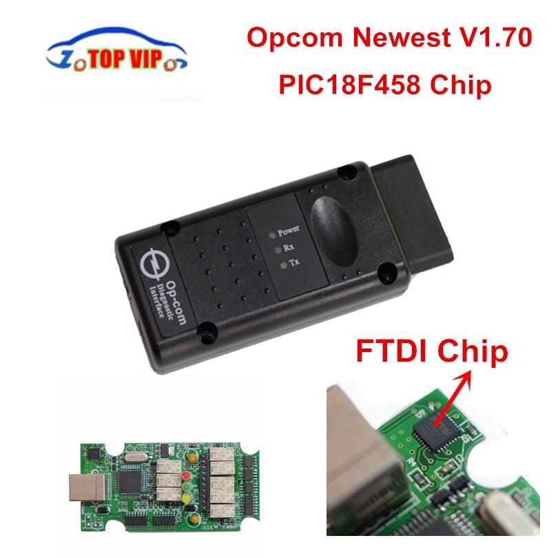 2018 neueste OPCOM v1.70/V1.95 OBD Scanner PIC18F458 Chip OP-COM Schnittstelle Scanner Diagnose-Tool für O-p-e-l software 1230309A