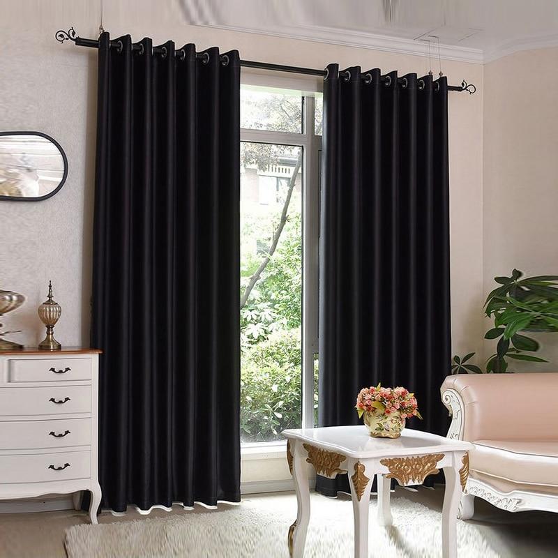 Ebene gefärbt blackout vorhang küche tür fenster vorhänge für ...