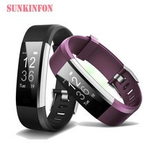 ID134 Bluetooth Good Wristband Bracelet Health Sleep Tracker Pedometer Coronary heart Price Monitor for LG G4 G5 SE V10 Stylo 2 / LS775