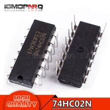10pcs free shipping 74HC02N 74HC02 SN74HC02N SN74HC02 DIP-14 Logic Gates QUAD 2-INPUT NOR GATE new original