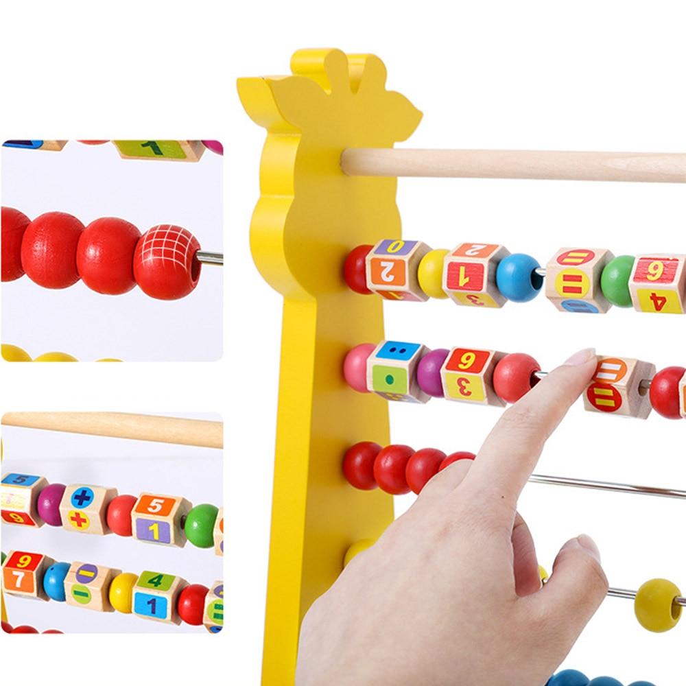 1 PC enfants numéro arithmétique Abacus blocs de construction apprentissage éducatif mathématiques jouet calcul Rack jouet pour enfant cadeau - 5