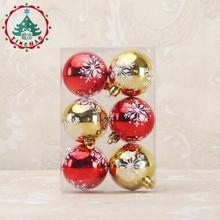 Adornos navidad 2016 6pcs Xmas Decorative 6cm Ball Ornaments for Christmas Tree Decorations Decoration  Home