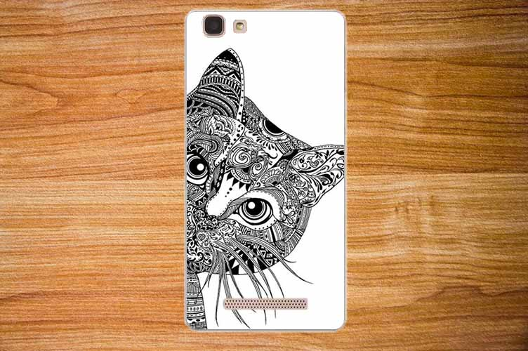 For cubot rainbow Case Cover Diy Painting Colored Owl Tiger Rose - Mobile Phone Accessories and Parts - Photo 3