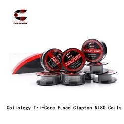 Coilology tri-core zacisk bezpiecznika NI80 cewki do elektronicznego papierosa RDA RBA drut Prebuilt ogrzewanie 3.0mm średnica wewnętrzna cewka