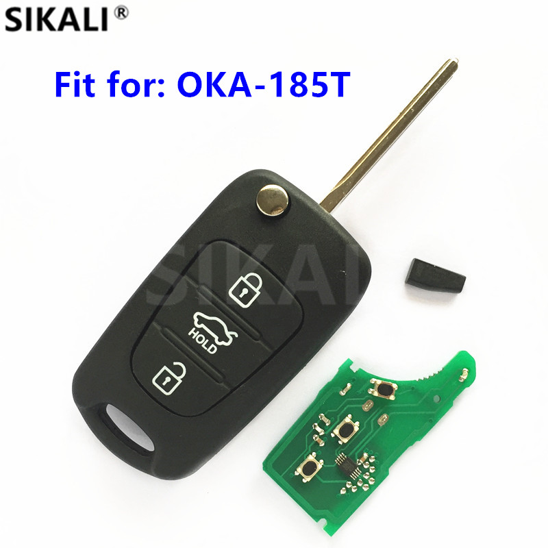 Remote-Key Transmitter Vehicle-Control-Alarm Model Auto OKA-185T Hyundai 433mhz For Number