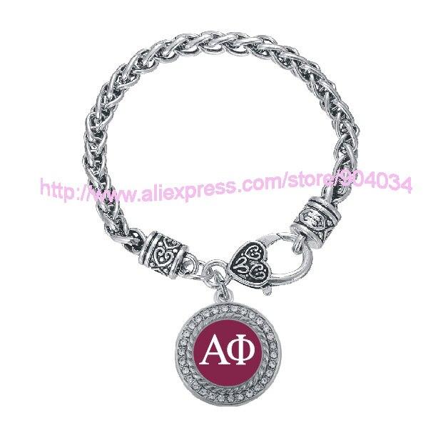 Customized Alpha Phi Sorority Bracelet Jewelry Rush sister