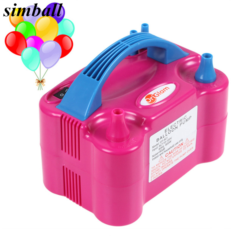 2017 New Double Hole 73005 HT-501 High Voltage AC Inflatable Electric Balloon Pump Air Inflator Machine 110V 220V Party Supplies