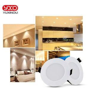 Image 2 - 1pcs 디 밍이 가능한 방수 led 통 ac110v 220 v 7 w/9 w/12 w/15 w/18 w/25 w/50 w led 전구 빛 recessed led 스포트 라이트 욕실