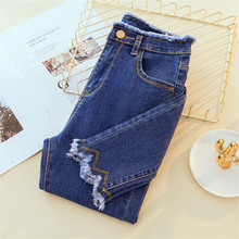 JUJUAND Ripped Skinny Pencil Jeans Woman Plus Size High Waist Mom Stretch jeans Ladies Denim Pants Trousers Women jeans velvet stretching warm jeans woman skinny stretch denim trousers high waist jean pencil pants winter mom jeans cashmere wiccon