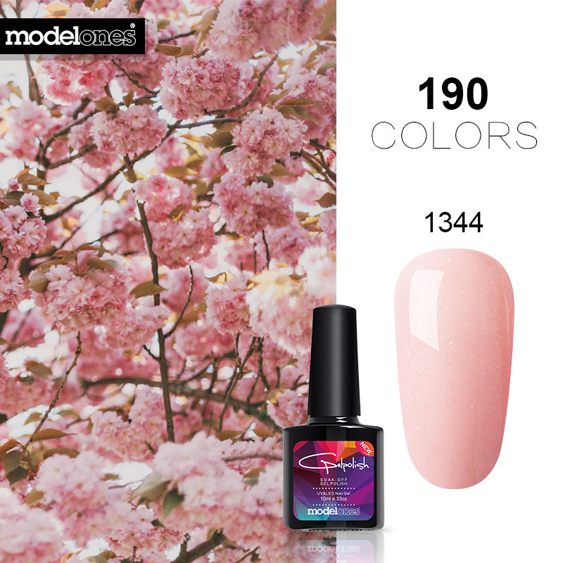 French Manicure Kit Gel Nail Lacquer Soak Off Led Paint 10ml Colorful שמור מוצר Gallery Image