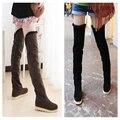 Mulheres algodão longo-cano botas até o joelho,-pesado de fundo alto-top botas com botas flat, Ms. anti-flanela coxa botas altas