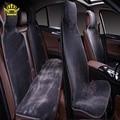 Capas de piel en el asiento de los coches avtochehly todos los asientos set 5 unids color gris de piel falsa caliente calienta 2016 raspradazh i022-5