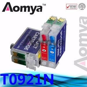 Aomya 92N T0921 многоразовый чернильный картридж T0921N совместимый для Epson Stylus C91 CX4300 T27 T26 T27 TX106 TX109 TX117 ARC Chips
