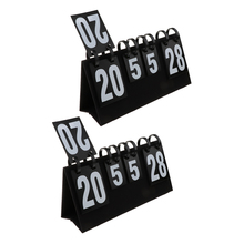 2 Pieces Portable Scoreboard Score Keeper Large 4 Digital Sports Flip Record Accessories