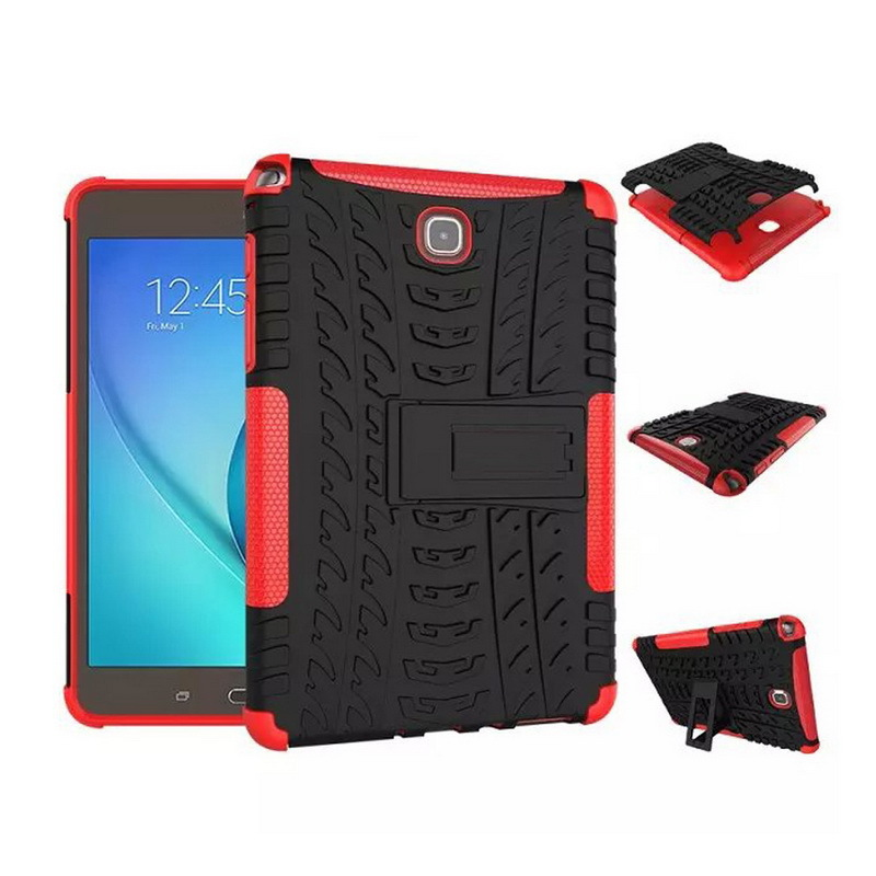 Shockproof Case for Samsung Galaxy Tab A 8.0 Cover,Hybird TPU+PC Tablet Cover for Samsung Galaxy Tab A 8.0 T350 P350 T351 T355 lovemei shockproof gorilla glass metal case for galaxy note4 n9100