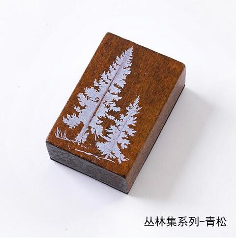 Винтажные лесные травянистые растения, украшение Луны, штамп, деревянные и резиновые штампы для скрапбукинга, канцелярские принадлежности, сделай сам, стандартный штамп - Цвет: 11