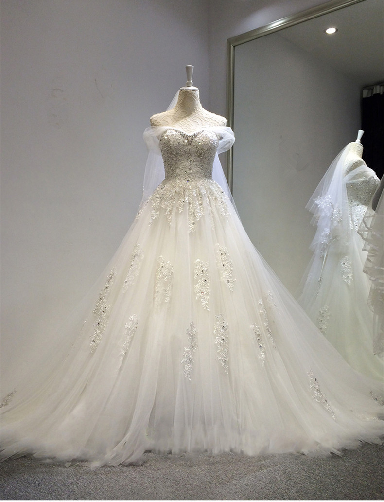 Cap Sleeve Crystal Lace Appliques Beading Cheap Bridal Gown 2018 Sexy Sweetheart Vestido De Noiva Mother Of The Bride Dresses