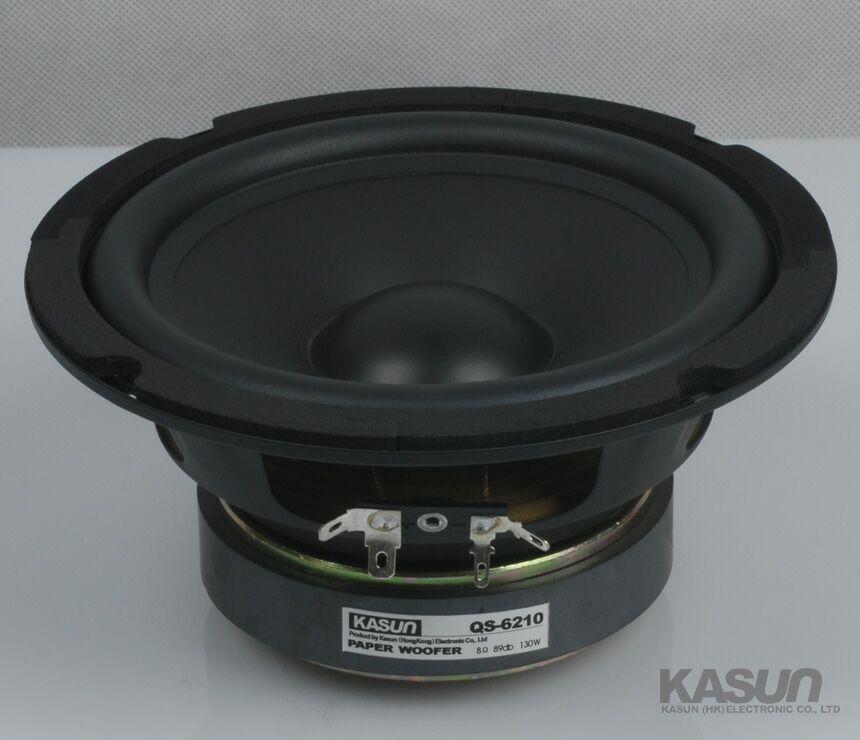 2PCS KASUN QS-6210 6.5'' Paper Woofer Speaker Driver Unit 8ohm/130W Fs 39Hz Max Diameter 167mm батарею для nokia 6210