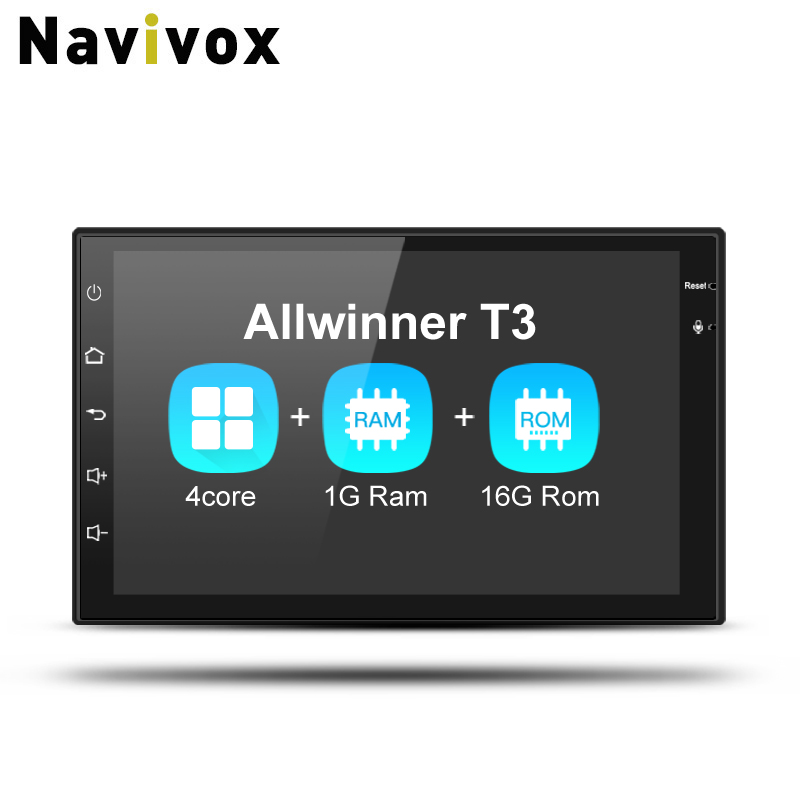 Navivox 7'' 2 Din radio car Player Android 7.1.1  2G Ram Quad Core  Universal Radio GPS Audio Player for nissan Navigation