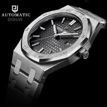 Marca de moda de Lujo DIDUN Mecánico Automático Relojes de Los Hombres Militar Reloj de pulsera de acero reloj de los hombres a prueba de agua