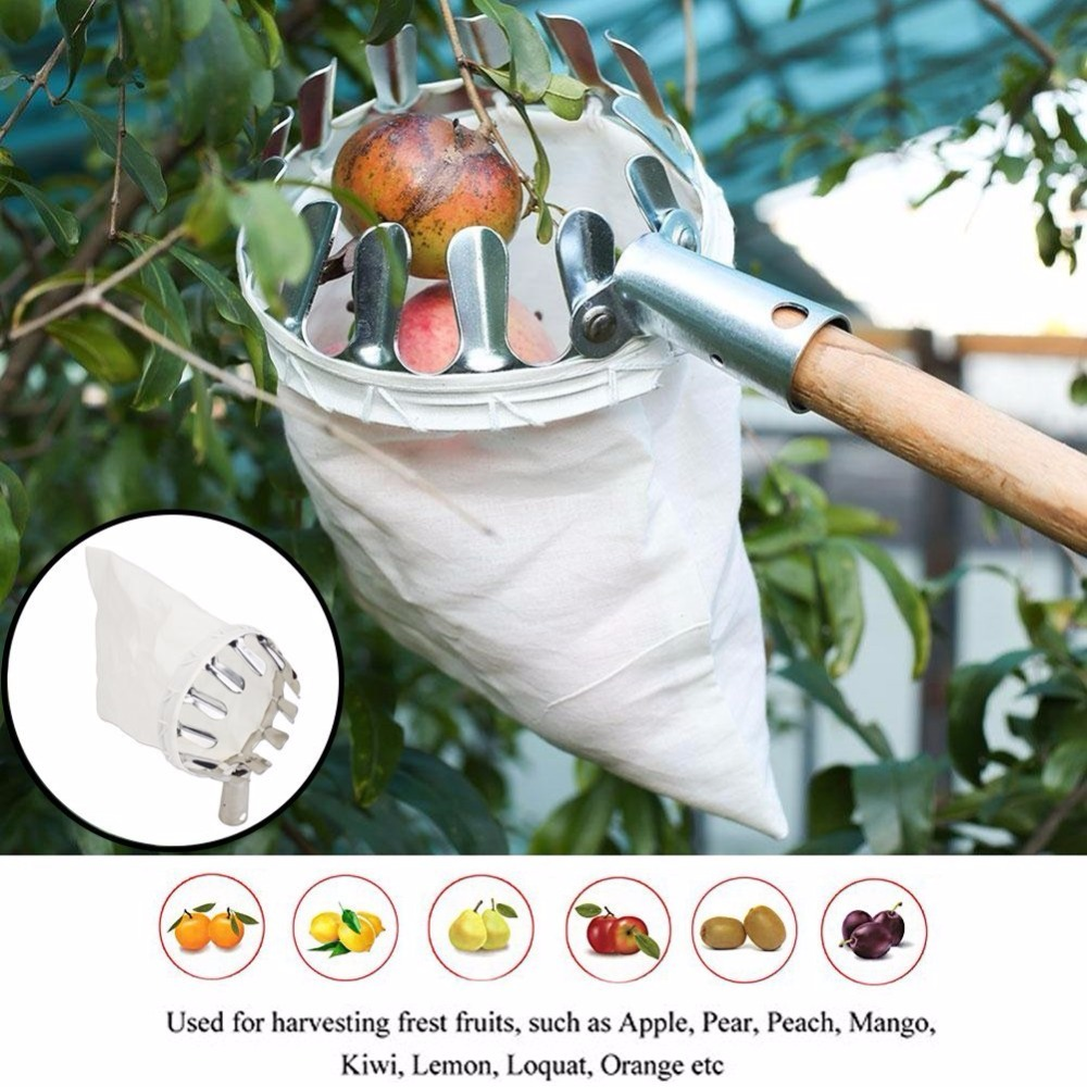 JDSR Garden Tools Fruit Picker Head Metal Fruit Picking Tools Fruits Catcher Harvest Picking Apple Citrus Pear Peach Hand Tools цена и фото
