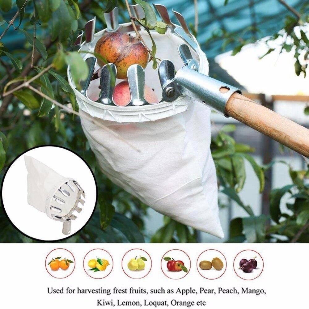 JDSR Jardin Outils Fruit Picker Tête En Métal Outils De Cueillette De Fruits Fruits Catcher Récolte Cueillette Apple D'agrumes Poire Pêche Outils À Main