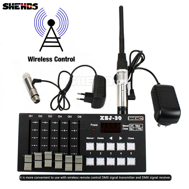 Stage Control Equipment Wireless Charging DMX Console30 Good For LED Flat Par/Moving Head/Spot Lighting DJ Disco Bar Controller