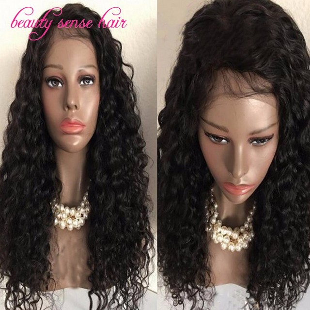 8bc5d366b83 US $208.0 |Aliexpress.com : Buy Big discount Brazilian Curly Full Lace wig  Glueless 8A grade 100% virgin human hair Lace Front wig with baby hair Free  ...