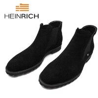 Генрих Мужская Обувь Новое поступление Для мужчин ботинки челси модные зимний стиль мягкие кожаные ботинки Для мужчин чёрный; коричневый к