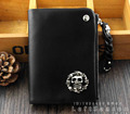 Real Leather Men's Lady Fashion Skull Wallet Card Holder