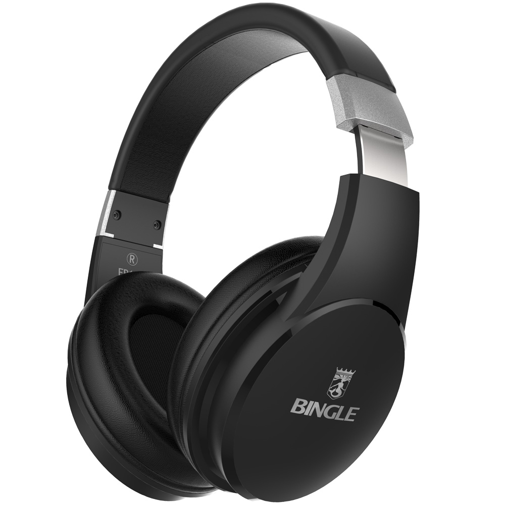 Bingle Fb110 Heavy Bass 3D Surround Stereo BT 4.1 Over Ear Head Phones Wireless Bluetooth Headset Headphone With Mic 3.5MM Audio