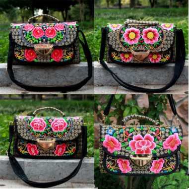 New Fashion embroidery Shopping bags!Hot Floral embroidery national Women casual Shoulder&Handbags Top All-match Multi-use bags