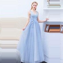 Evening Dresses Elegant Sexy V-neck Long Plus Size Prom 2019 Backless Women Party Dress Robe De Soiree E591