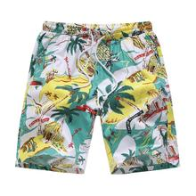 Hawaiian Style Sport & Street Men Shorts Flowers Loose Short Pants Men Fitness clothing Shorts for Men