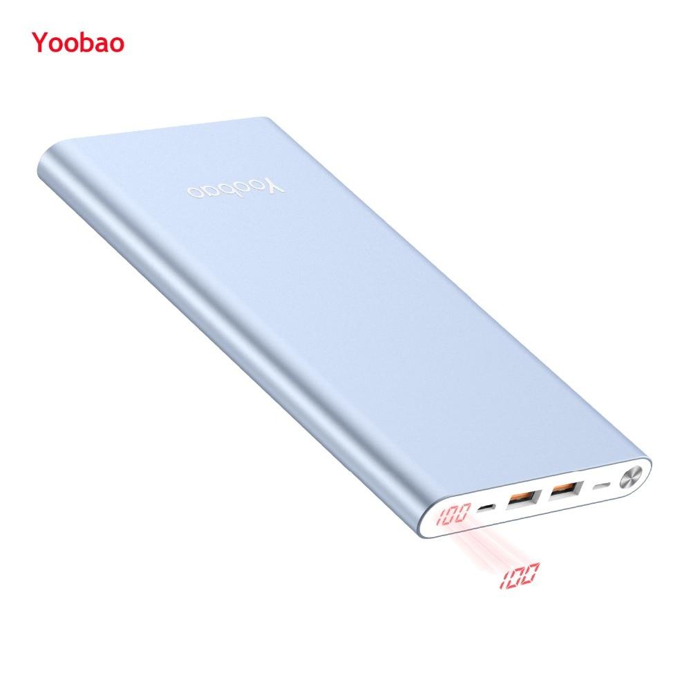 Yoobao Power Bank 14.5mm Ultra Slim 20000mAh Powerbank Dual Output/Input External Battery With Digital Display