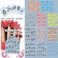 2014 Llegada 20 Hoja/lot Wing Nail Art Tatuajes de Transferencia de Agua Pegatina de uñas de arte de uñas accesorios de empaquetado individualmente