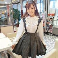 2015 Autumn Winter Strap Braces Skirt Girl Of Lolita College Of Bitter Fleabane Bitter Dress Include