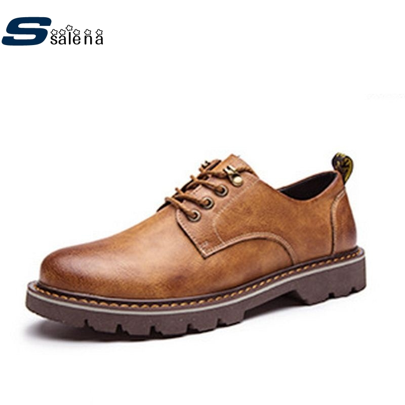 Casual Shoes Men Winter Outdoor Flats Leather Men Shoes Autumn Outdoor Shoes AA20016 2017 new autumn winter british retro men shoes zipper leather breathable sneaker fashion boots men casual shoes handmade