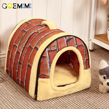 New Arrival Dog House Nest With Mat Foldable Top Quality Houes For Small Medium Dogs Travel Pet Bed Bag Pet Products hot dog house nest with mat foldable pet dog bed cat bed house for small medium dogs travel pet bed bag product