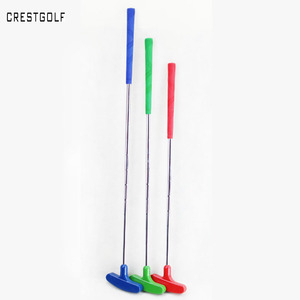 3 unids/pack Mini Putters de Golf Clubs de Golf de goma con Putter cabeza y puños y eje de acero de 6 colores tamaño personalizado