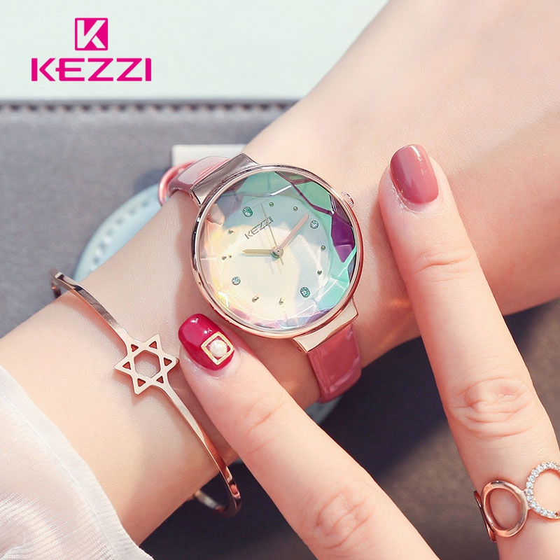 KEZZI Fine Belt Crystal Glass Simple and lovely Watches dames 'Daily - Dameshorloges - Foto 3